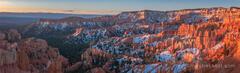 Bryce Canyon Sunrise Panorama print