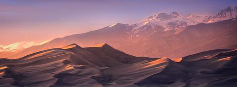 Dunes Sunset Panorama