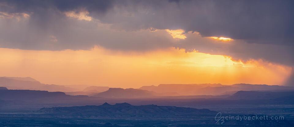 Sotol Vista Sunset Panorama