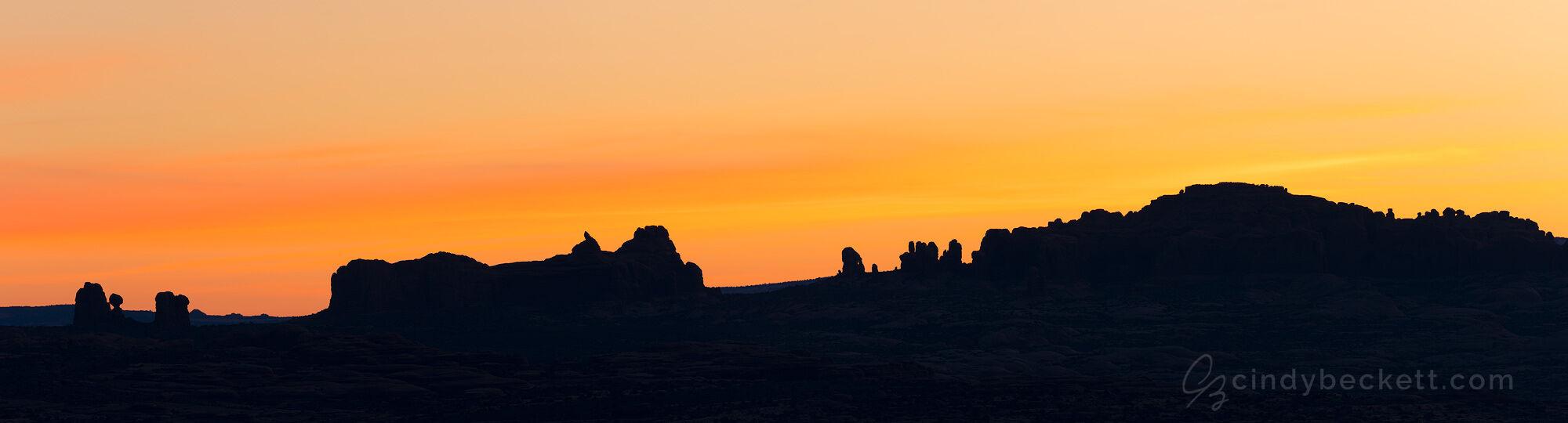 Arches Skyline Sunrise Panorama